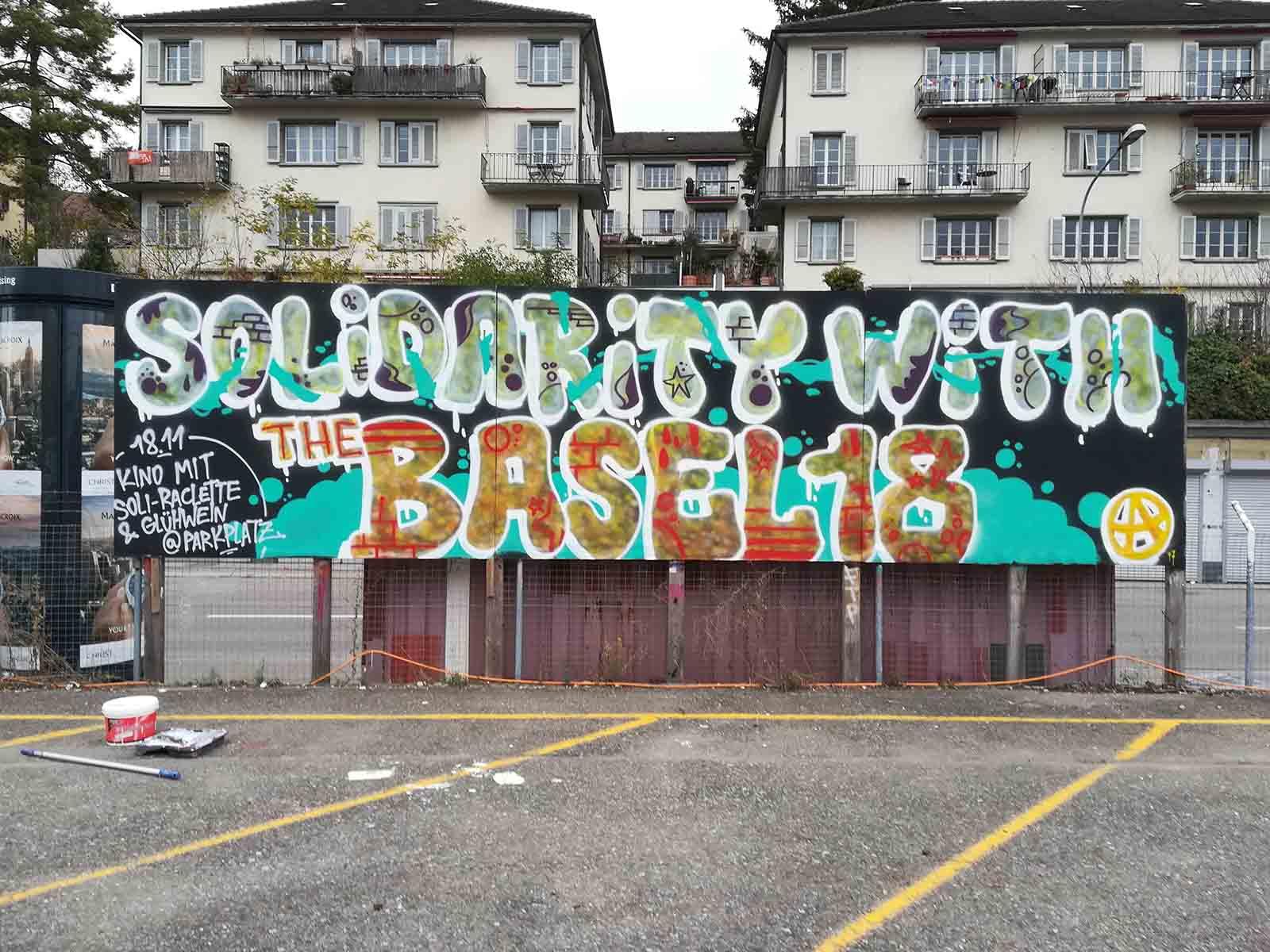 Solidarität mit Basel - der Name ist Programm. An der Filmvorführung von Hamburger Gitter nahmen 100 Personen teil.