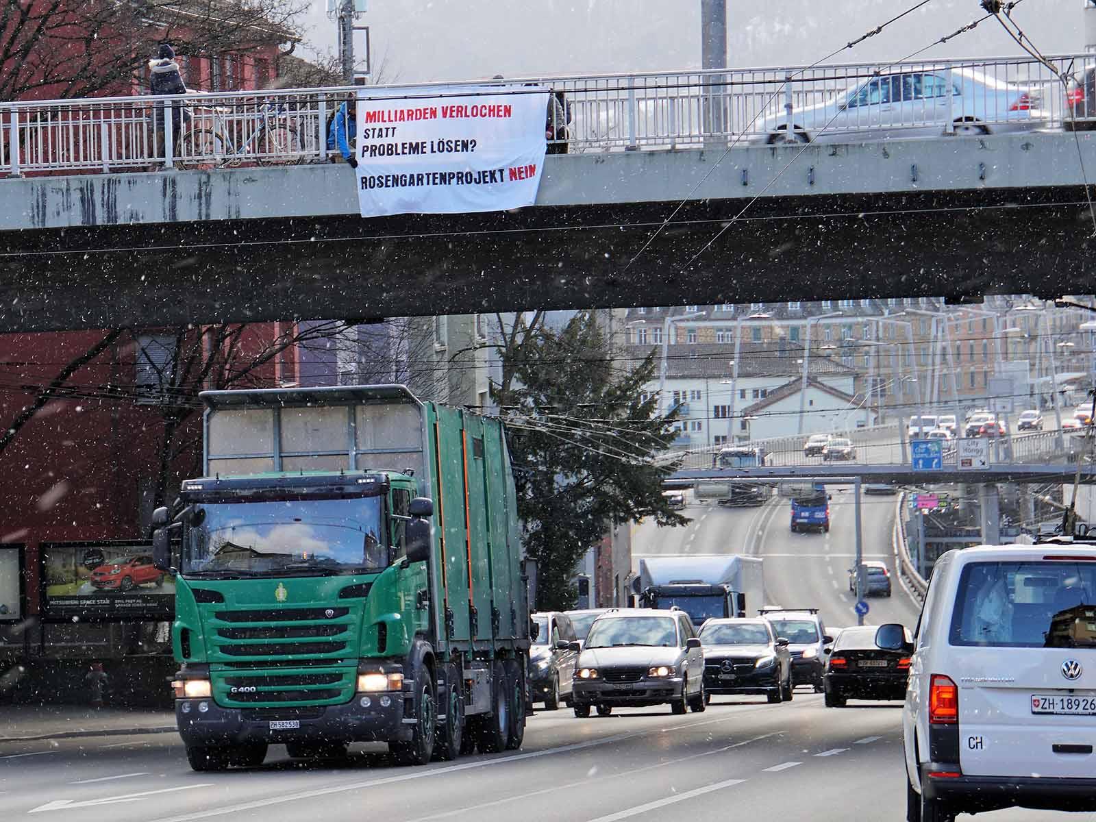 Seit Wochen kämpft die SP gegen das geplante Rosengartenprojekt. Nun wird die Stimmbevölkerung den Tunnel stoppen müssen.