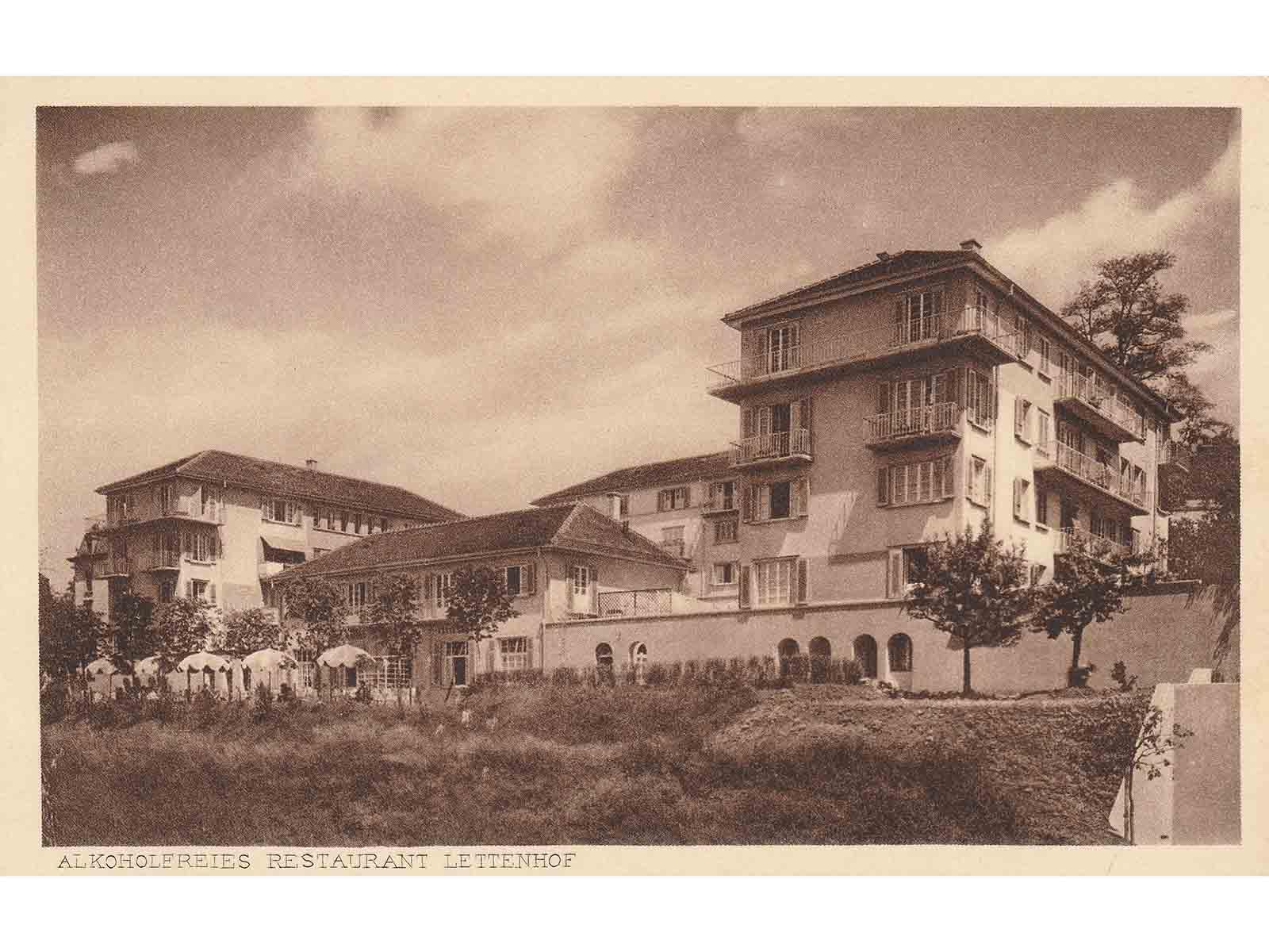Die Siedlung Lettenhof, 1927 von der berühmten Zürcher Architektin Lux Guyer im Auftrag der Baugenossenschaft berufstätiger Frauen erbaut.
