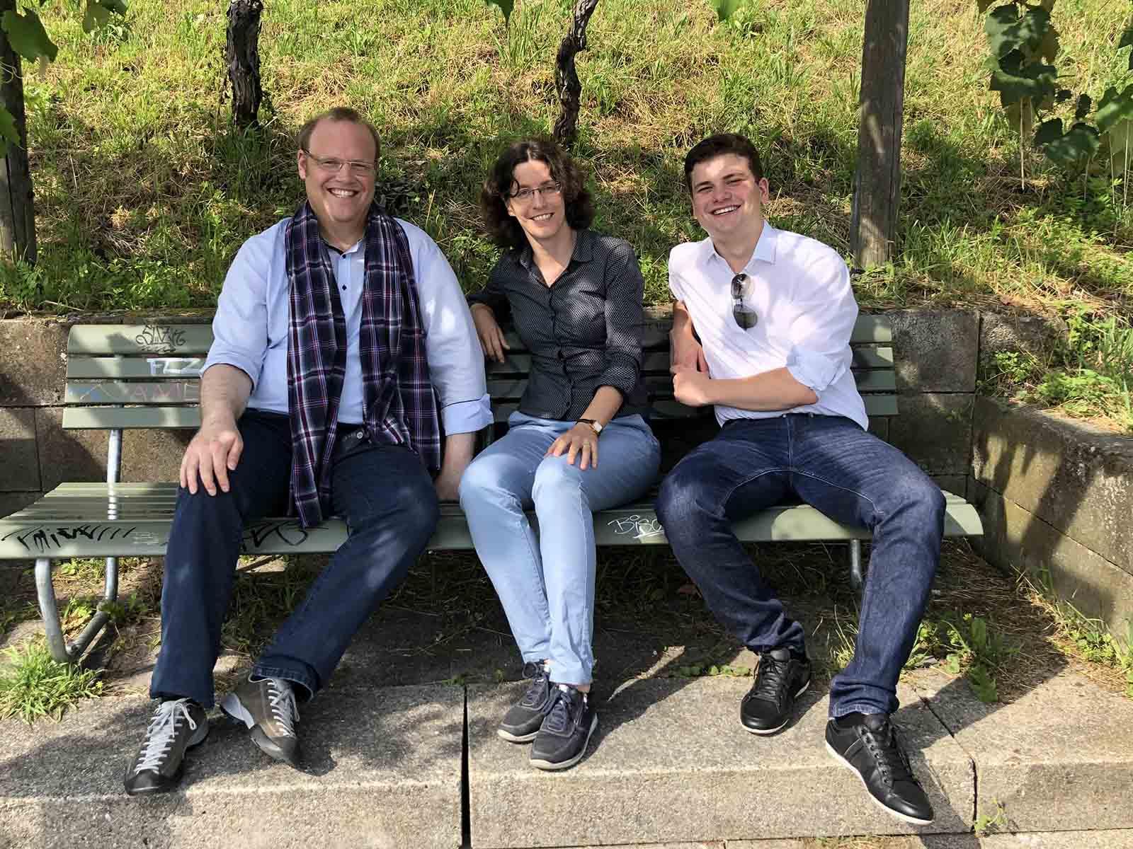 Wollen in den Nationalrat (v.l.n.r.): Kantonsrat Alexander Jäger, Gemeinderätin Martina Zürcher-Böni und der Jungfreisinnige Enrique Zbinden