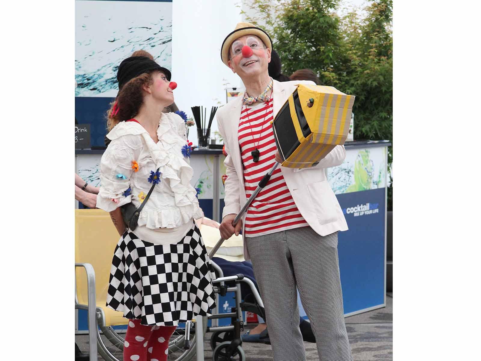Die Gero Clowns Mozzarella und Pepo.
