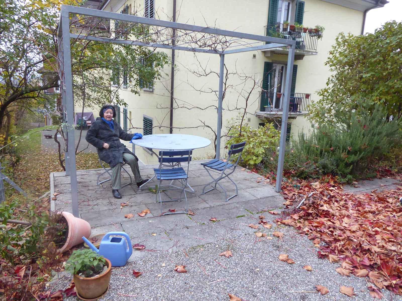 Alles, was Wipkingen so attraktiv macht, ist durch den Rosengarten-Tunnel bedroht: Das beruhigte Quartier, der belebte Röschibachplatz und die lauschigen Gärten. Die Schriftstellerin Isolde Schaad, die an der Scheffelstrasse in einer selbst gegründeten Genossenschaft wohnt, findet es verwerflich, Wipkingen mit so einem Auto-Projekt zu zerstören.