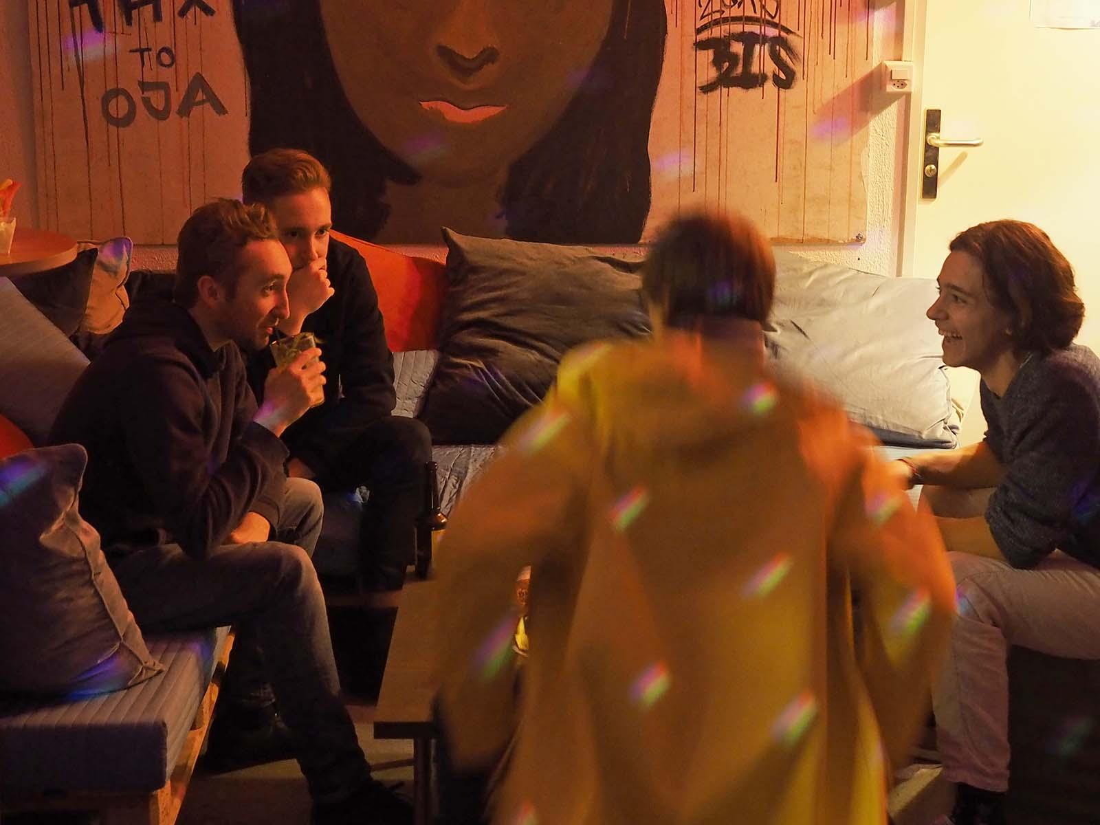 Intensive Gespräche zwischen den Auftritten.
