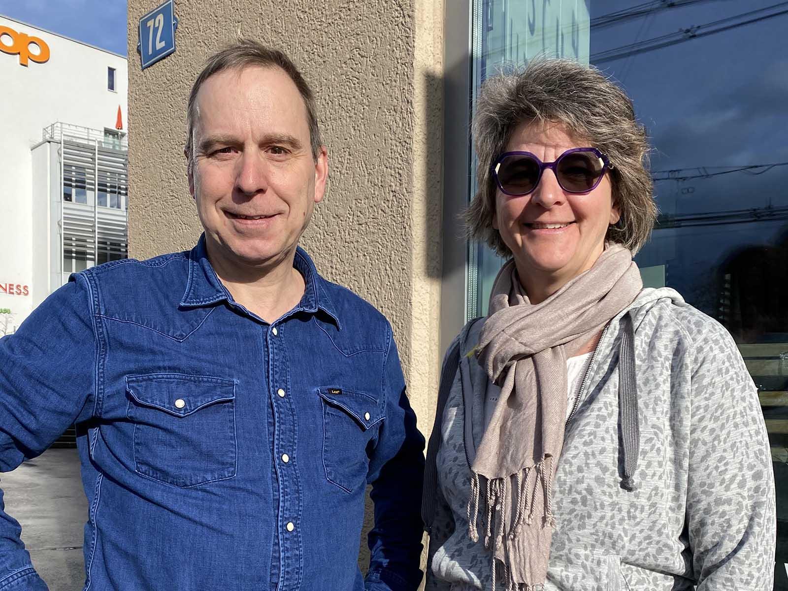 Der Interimsvorstand des Gewerbe Wipkingen: Martin Bürlimann und Barbara Schürz