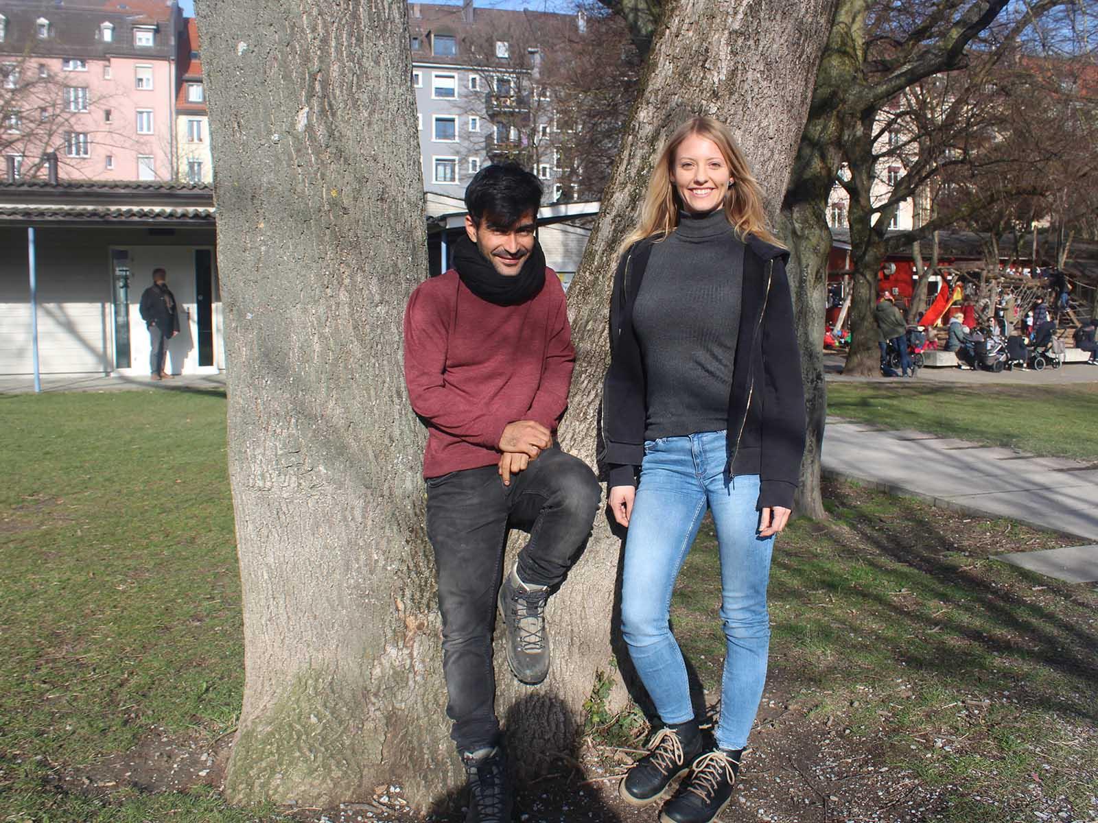 Jafar Rezai und Prisca Ammann investieren viel Zeit und Energie für die Freiwilligenarbeit - und es lohnt sich.