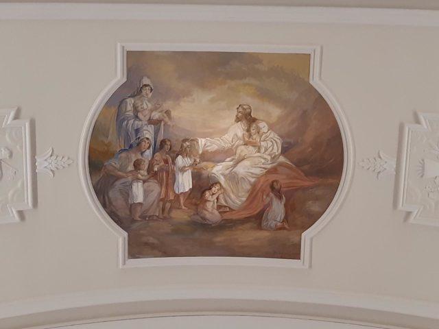 Deckenbild «Kinder sind meine Ehrengäste».