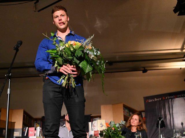 Severin Schwendener holte zum zweiten Mal den Zürcher Krimipreis.