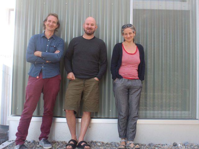 Das Team des Begegnungsraums (v.l.n.r.): Jonas Isenring, Samuel Bürgin und Jenny Bolliger.
