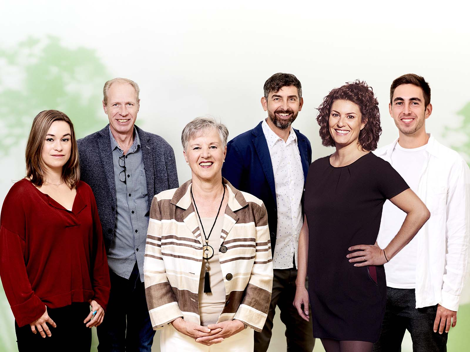 Sophie Kreutzberg, Markus Huber, Monika Bätschmann, Roland Hurschler, Tina Erb und Martin Busekros (v.l.n.r.)