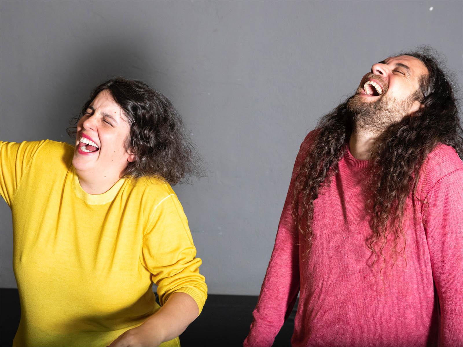Choreografin Eugénie Rebetez und Performer Tarek Halaby, «Ha ha ha».