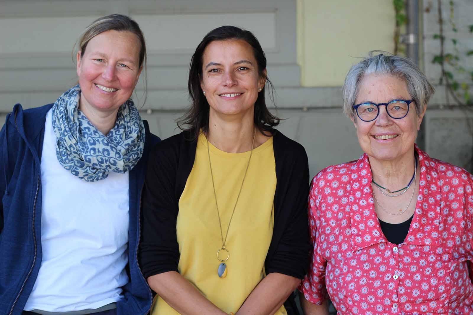 Kinderkulturgruppe GZ Wipkingen: Wiebke Gnodtke, Sophie Stiller, Esther Eckstein (v.l.n.r.). Es fehlt Maja Baumgartner.